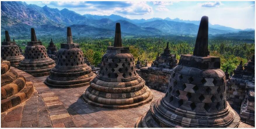 Borobudur Shrine, Java, Indonesia