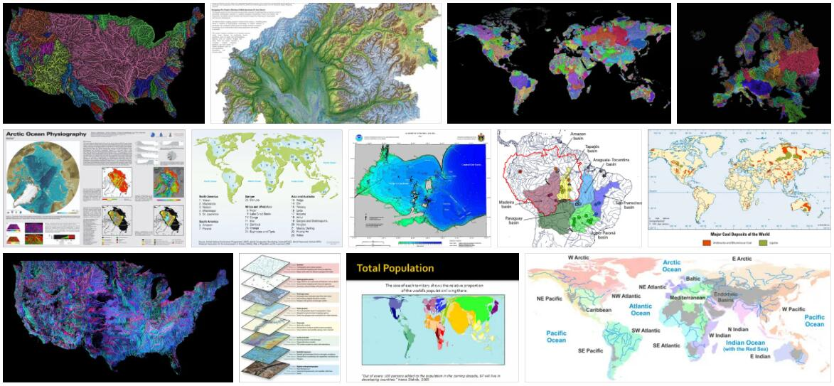Main Hydrographic Basins in the World